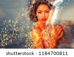 beautiful sexy latin bomb shell ...   Shutterstock . vector #1184700811