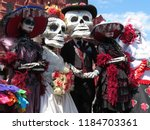 day of the dead. people in... | Shutterstock . vector #1184703361