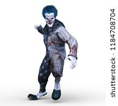 3d cg rendering of clown | Shutterstock . vector #1184708704