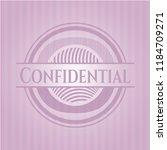 confidential pink emblem | Shutterstock .eps vector #1184709271