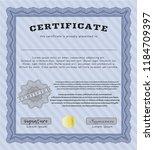 blue sample certificate or... | Shutterstock .eps vector #1184709397