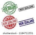 new zealand seal prints with... | Shutterstock .eps vector #1184711551