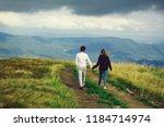 couple of handsome bearded man... | Shutterstock . vector #1184714974