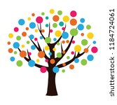 abstract colorful tree for your ... | Shutterstock .eps vector #1184724061