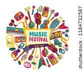 music festival. music... | Shutterstock .eps vector #1184732587