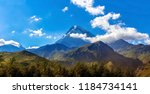 the mountain at dawn  the... | Shutterstock . vector #1184734141