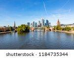 skyline of frankfurt am main... | Shutterstock . vector #1184735344