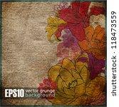 eps10 vintaje floral background | Shutterstock .eps vector #118473559