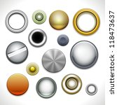 metal buttons and rivets... | Shutterstock . vector #118473637