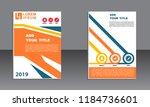 book cover vector modern... | Shutterstock .eps vector #1184736601