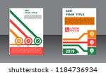book cover vector modern... | Shutterstock .eps vector #1184736934