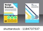 book cover vector modern... | Shutterstock .eps vector #1184737537