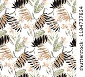 tropical retro pattern with... | Shutterstock .eps vector #1184737834
