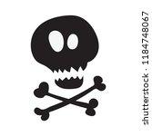 skull and crossbones  flat icon | Shutterstock .eps vector #1184748067