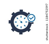 fast time icon  fast time logo  ... | Shutterstock .eps vector #1184752597