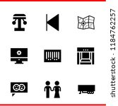 simple modern set of  pin icons ... | Shutterstock .eps vector #1184762257