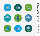 cloud technology icons set....