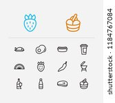 meal icons set. berry and meal... | Shutterstock . vector #1184767084