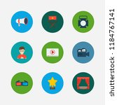 video icons set. play video and ... | Shutterstock .eps vector #1184767141