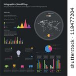 infographics set. world map and ... | Shutterstock .eps vector #118477204