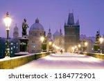 Winter Snowy Charles Bridge ...