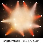 spotlight on circle with space... | Shutterstock .eps vector #1184775604