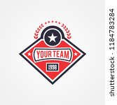 sports team or campaign or... | Shutterstock .eps vector #1184783284