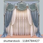 decoration of the interior of... | Shutterstock . vector #1184784427