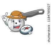 explorer pizza cutter cartoon...   Shutterstock .eps vector #1184785027