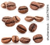 collection of coffee beans... | Shutterstock . vector #118479094