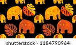 seamless asian pattern with... | Shutterstock .eps vector #1184790964