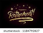 happy retirement card  banner.... | Shutterstock .eps vector #1184792827