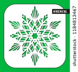 stencil. laser cutting template.... | Shutterstock .eps vector #1184813467