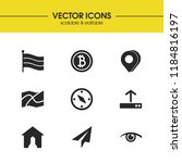 mixed icons set with 3d pin ...   Shutterstock .eps vector #1184816197