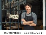 portrait of small business... | Shutterstock . vector #1184817271