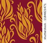 vector seamless floral pattern...   Shutterstock .eps vector #1184821471