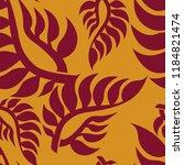 vector seamless floral pattern...   Shutterstock .eps vector #1184821474