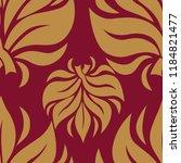 vector seamless floral pattern...   Shutterstock .eps vector #1184821477