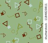 seamless memphis background.... | Shutterstock .eps vector #1184823811