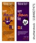 set of happy halloween... | Shutterstock .eps vector #1184827471