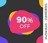 90  off sale inscription design ...   Shutterstock .eps vector #1184838001