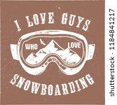 mountain snowboard logo.... | Shutterstock .eps vector #1184841217