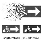 patient exit icon in dissolved  ...   Shutterstock .eps vector #1184844061