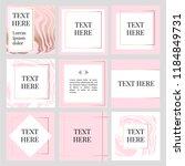 templates frame square fluide... | Shutterstock .eps vector #1184849731