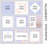 templates frame square fluide... | Shutterstock .eps vector #1184849734