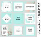 templates frame square fluide... | Shutterstock .eps vector #1184849737