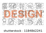 graphic design pattern with... | Shutterstock .eps vector #1184862241