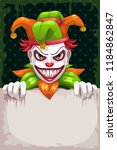 creepy circus poster. scary... | Shutterstock .eps vector #1184862847
