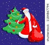 cute cartoon santa claus... | Shutterstock .eps vector #1184867794