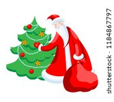 cute cartoon santa claus... | Shutterstock .eps vector #1184867797